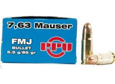 B - 50 CARTOUCHES 7.63MAUSER 85GRS FMJ